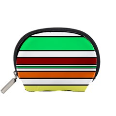 Green, orange and yellow lines Accessory Pouches (Small)