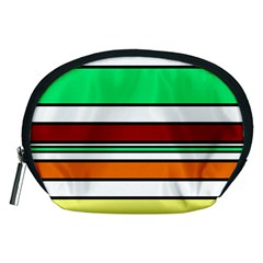 Green, orange and yellow lines Accessory Pouches (Medium)