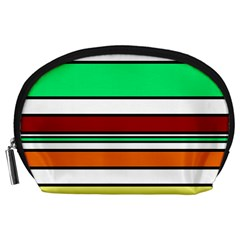 Green, orange and yellow lines Accessory Pouches (Large)