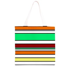 Green, orange and yellow lines Grocery Light Tote Bag