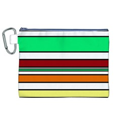 Green, orange and yellow lines Canvas Cosmetic Bag (XL)