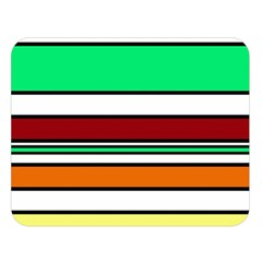 Green, orange and yellow lines Double Sided Flano Blanket (Large)