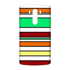 Green, orange and yellow lines LG G3 Back Case