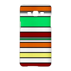 Green, orange and yellow lines Samsung Galaxy A5 Hardshell Case