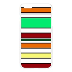 Green, orange and yellow lines Apple Seamless iPhone 6 Plus/6S Plus Case (Transparent)