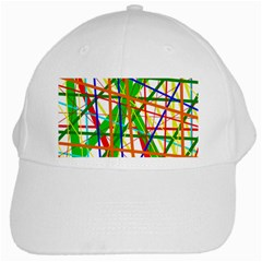 Colorful lines White Cap