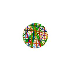 Colorful lines 1  Mini Buttons