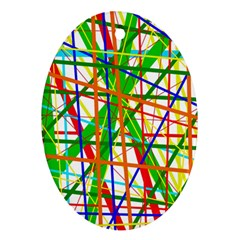 Colorful lines Ornament (Oval)