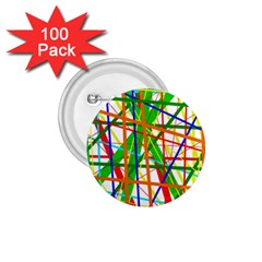 Colorful lines 1.75  Buttons (100 pack)