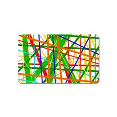Colorful lines Magnet (Name Card)