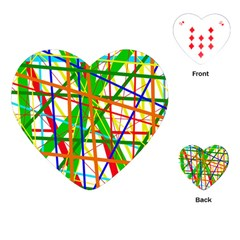 Colorful lines Playing Cards (Heart)
