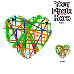 Colorful lines Playing Cards 54 (Heart)