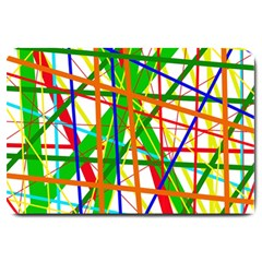 Colorful lines Large Doormat