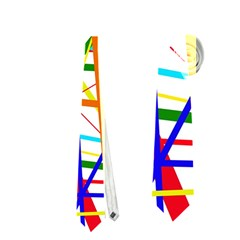 Colorful lines Neckties (One Side)