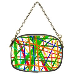 Colorful lines Chain Purses (Two Sides)