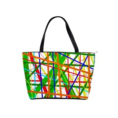 Colorful lines Shoulder Handbags