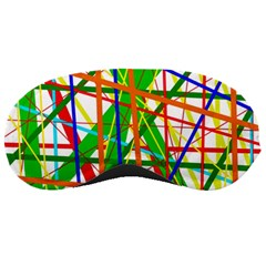 Colorful lines Sleeping Masks