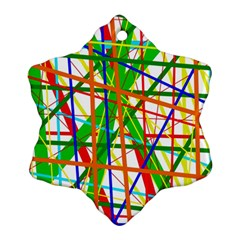 Colorful lines Snowflake Ornament (2-Side)