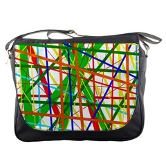 Colorful lines Messenger Bags