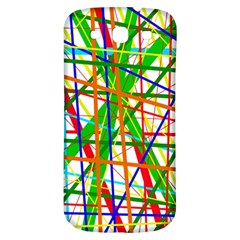 Colorful lines Samsung Galaxy S3 S III Classic Hardshell Back Case