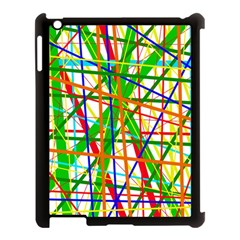 Colorful lines Apple iPad 3/4 Case (Black)