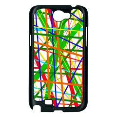 Colorful lines Samsung Galaxy Note 2 Case (Black)