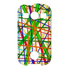 Colorful lines Samsung Galaxy S7710 Xcover 2 Hardshell Case