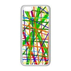 Colorful lines Apple iPhone 5C Seamless Case (White)