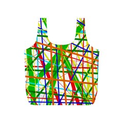 Colorful lines Full Print Recycle Bags (S)