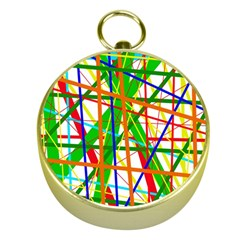 Colorful lines Gold Compasses
