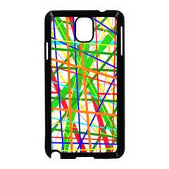 Colorful lines Samsung Galaxy Note 3 Neo Hardshell Case (Black)