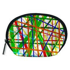 Colorful lines Accessory Pouches (Medium)