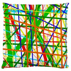 Colorful lines Standard Flano Cushion Case (One Side)