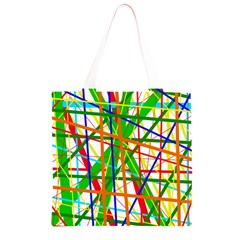 Colorful lines Grocery Light Tote Bag