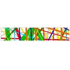 Colorful lines Flano Scarf (Large)