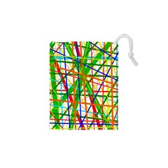 Colorful lines Drawstring Pouches (XS)