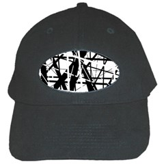 Black and white abstract design Black Cap