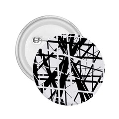 Black and white abstract design 2.25  Buttons