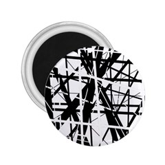 Black and white abstract design 2.25  Magnets