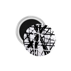 Black and white abstract design 1.75  Magnets