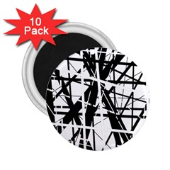 Black and white abstract design 2.25  Magnets (10 pack)