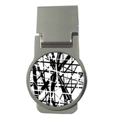 Black And White Abstract Design Money Clips (round)