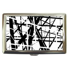 Black and white abstract design Cigarette Money Cases