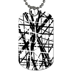 Black and white abstract design Dog Tag (Two Sides)