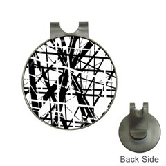 Black and white abstract design Hat Clips with Golf Markers