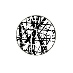 Black and white abstract design Hat Clip Ball Marker (10 pack)