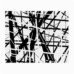 Black and white abstract design Small Glasses Cloth