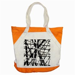 Black and white abstract design Accent Tote Bag