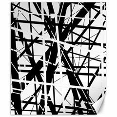 Black and white abstract design Canvas 20  x 24