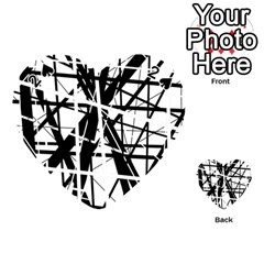 Black and white abstract design Playing Cards 54 (Heart)